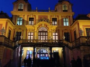 Eingang ins Schloss Favorite in Ludwigsburg