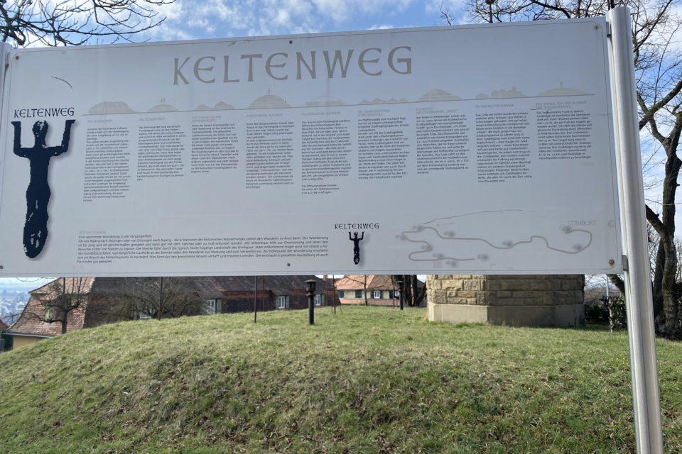 "Hinweistafel ""Keltenweg"" am Hohenasperg"