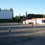 Die Parkplätze im Autokino Kornwestheim