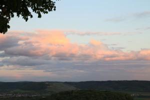 Sonnenuntergang vom Aussichtsturm auf dem Wunnenstein