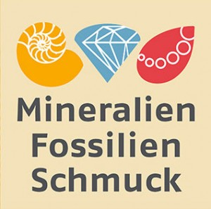 Mineralien, Fossilien, Schmuck-Messe-Logo