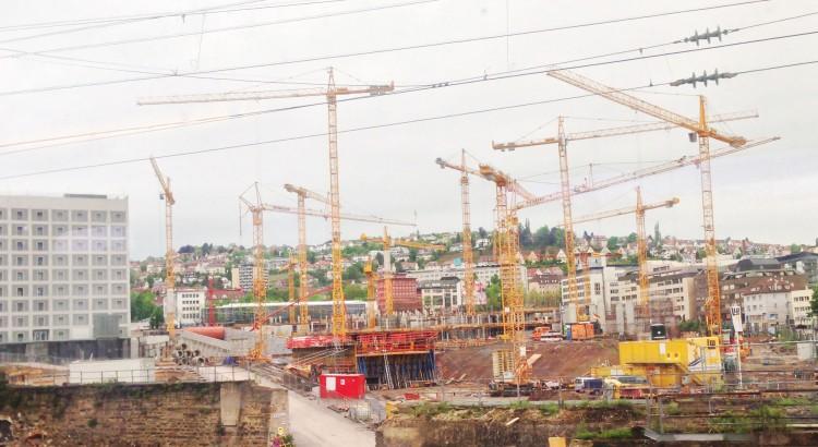 Baustelle am Hauptbahnhof in Stuttgart
