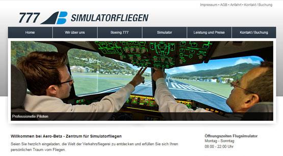 Simulatorfliegen