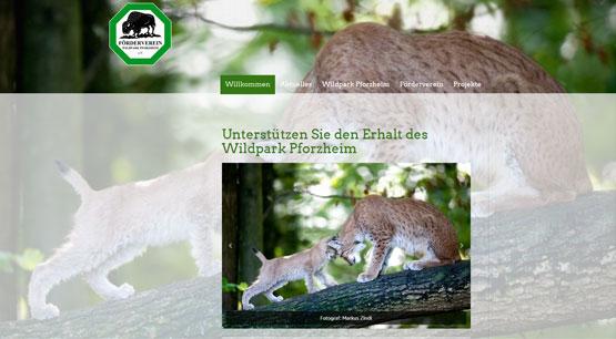 Wildpark Pforzheim Homepage