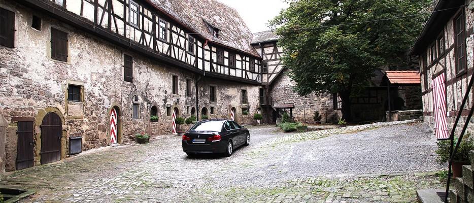 Hof der Burg Lichtenberg