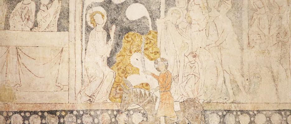 Wandmalereien in der Burg Lichtenberg
