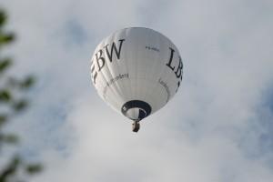 Heißluftballon vom Wunnenstein aus fotografiert